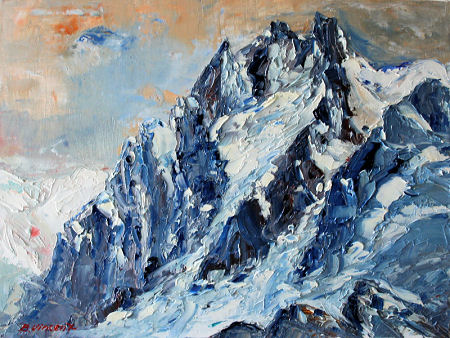 peintre peinture montagne mont blanc chamonix tableaux. Black Bedroom Furniture Sets. Home Design Ideas