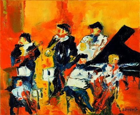 Peintre Et Peinture Musique Tableaux Jazz Orchestre